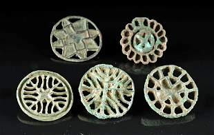 Lot of 5 Bactrian Bronze Pendant Stamps