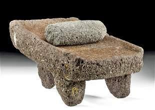 Attractive Maya Stone Metate & Pestle