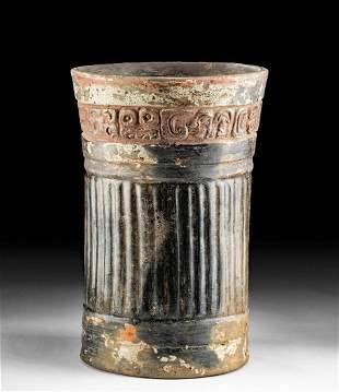 Maya Pottery Cylinder Vessel Glyph Band
