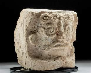 Maya Architectural Base w/ Kinich Ahau, ex-Museum