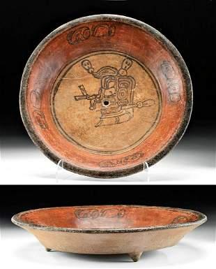 Maya Pottery Bowl Skull in Tondo, Kill Hole