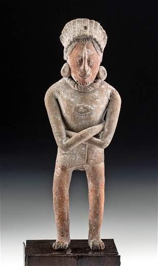 Maya Jaina Pottery Standing Warrior Whistle, TL Tested
