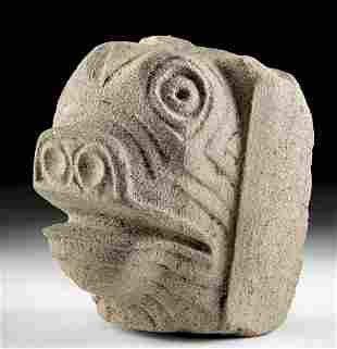 Maya Campeche / Chiapas Stone Zoomorphic Head