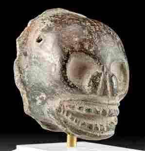 Maya Blackware Skull Pendant