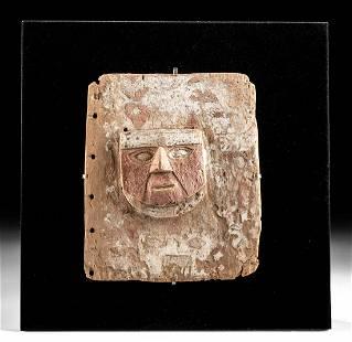 Rare Huari Wood Panel w/ Face