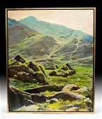 Exhibited 1979 W. Draper Painting- Connor Pass, Ireland