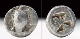 Greek Aegina AR Silver Stater w/ Turtle & Shield