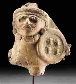 Vera Cruz Pottery Figure with Shield