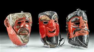 Vintage Guatemalan Wood Dance Masks (3)
