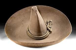 20th C. Mexican Wool Felt Sombrero - Monte Carlo