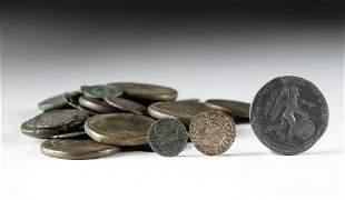 Roman & Other Bronze Coin Assortment - 72 coins