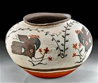 Signed 20th C. Acoma Polychrome Bowl - Little Hand
