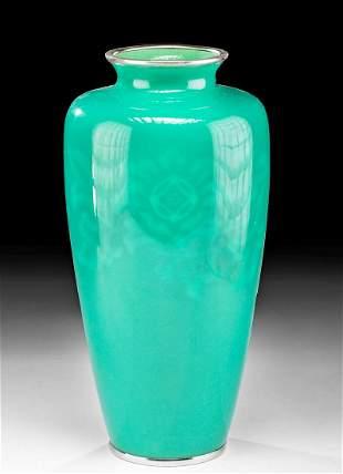 Japanese Wireless Cloisonne Enamel Vase Ando Jubei
