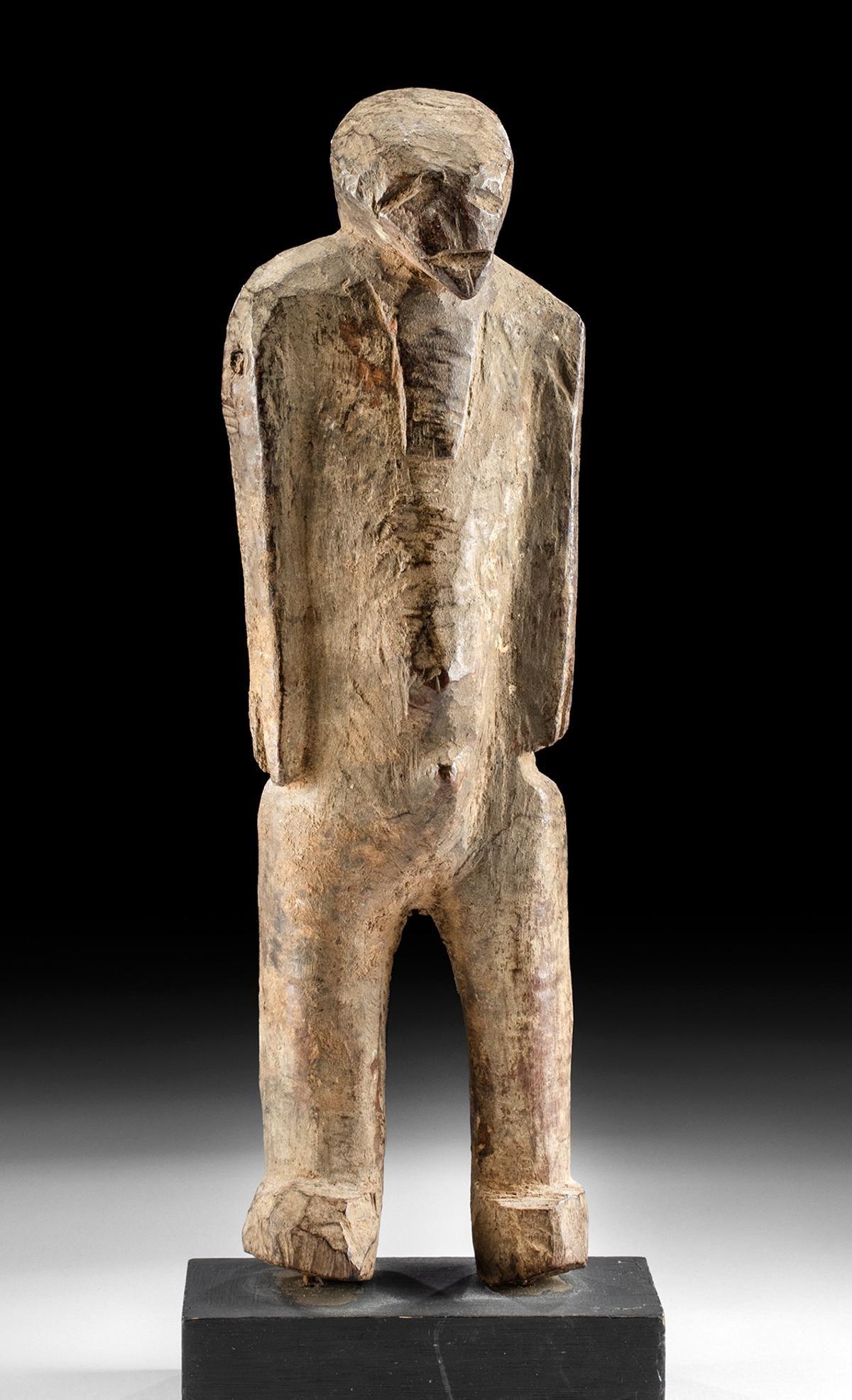 Mid-20th C. African Kurumba Wood Male / Female Figure