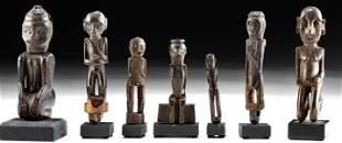 19th C. Indonesian Dayak Wood Guardian Figures (7)