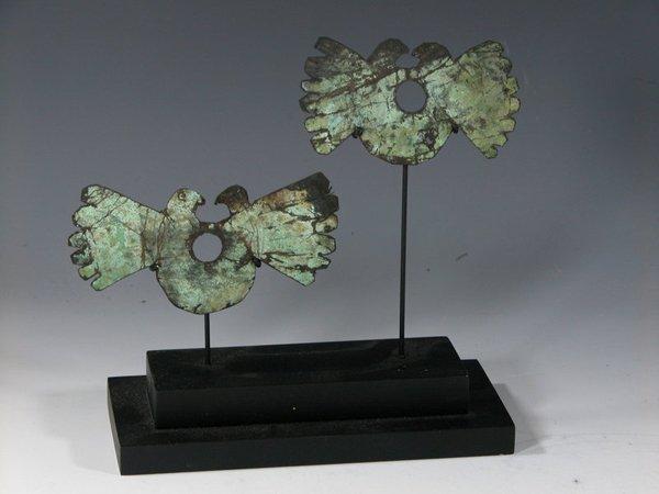 13: Peruvian Moche Copper Nose Ornaments