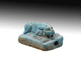 17:  Egyptian Recumbent Lion Amulet
