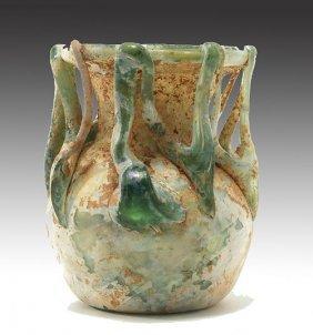 20:  Roman Glass Trailed Jar