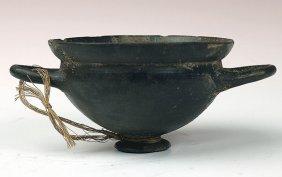 Fine Etruscan Bucchero Skyphos