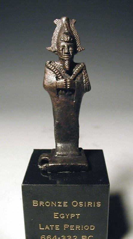 42: Egyptian Bronze Figure of Osiris