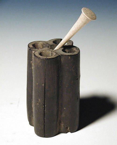 43: An Egyptian Wood Quintuple Kohl Tube