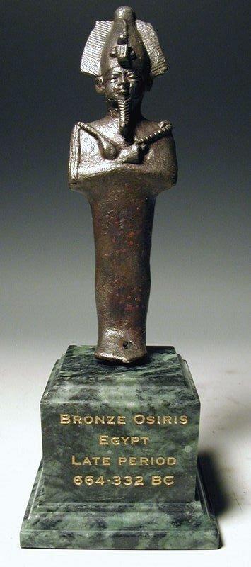 44: Egyptian bronze figure of Osiris