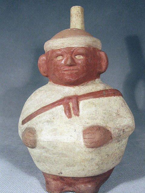 48: Pre-Columbian Moche IV Stirrup Vessel