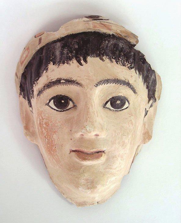 52: Roman Egyptian Stucco Mask