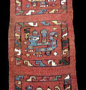 Fine Pre Columbian Moche Textile Section