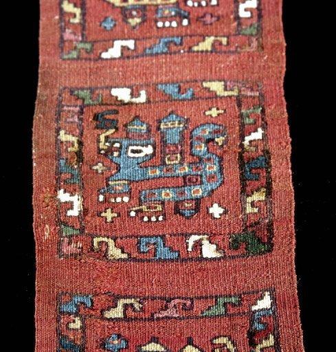 61: Fine Pre Columbian Moche Textile Section