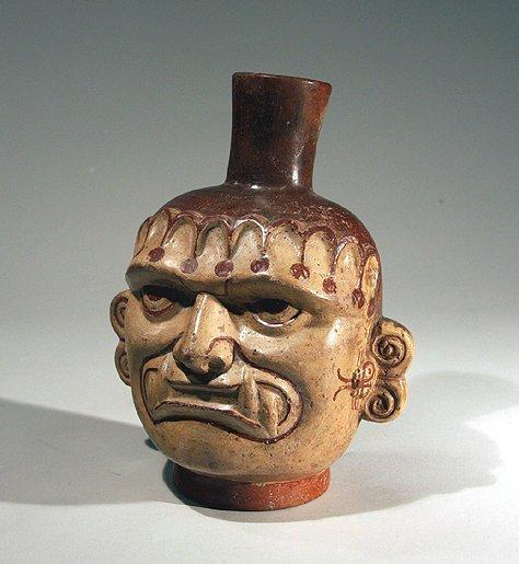 63: Pre-Columbian Moche Shaman Vessel