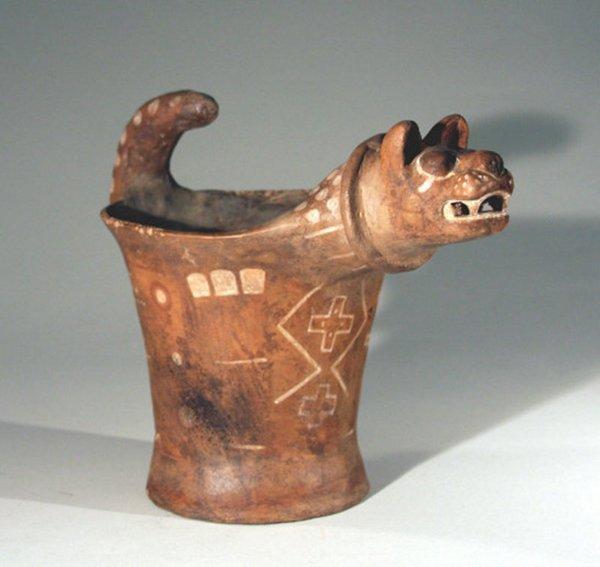 64: Fine Peruvian Tihuanaco Pottery Kero