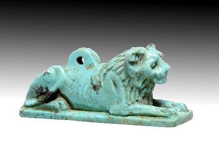 70: An Egyptian Recumbent Lion Amulet