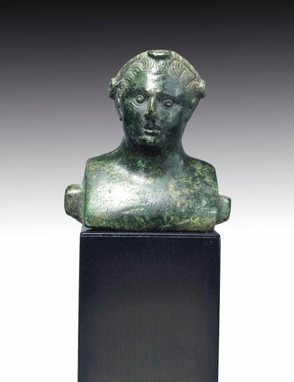 72: Roman Bronze Herm Of An Athlete