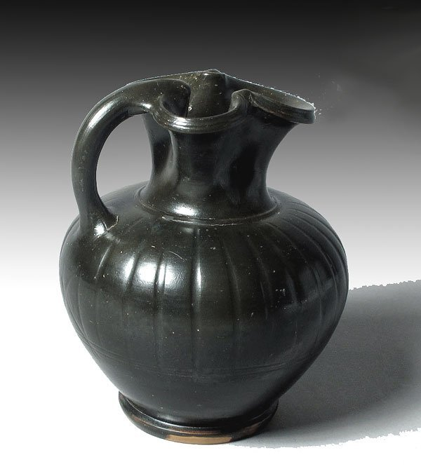 73: Greek Black Glazed Trefoil Lip Oinochoe