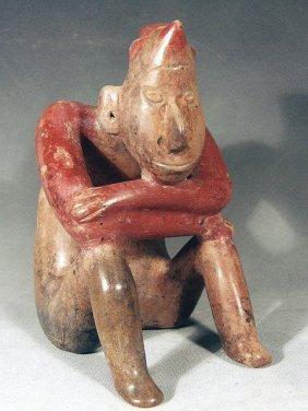 """Pre-Columbian Jalisco Mexico """"Pensador"""" Thinker"""