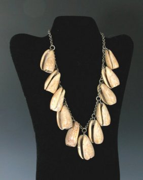 Mayan Spiral Shell Necklace