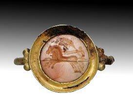 109:  Roman Charioteer Seal Ring