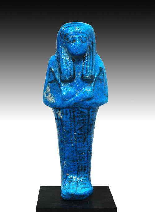 111: Egyptian Bright Blue Ushabti of Nes-Mut-Nebet-I