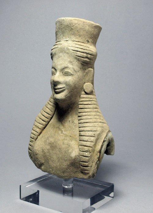 112: Greek Terracotta Female Bust