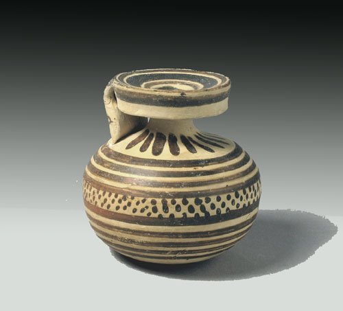 115: Greek Corinthian Terracotta Aryballos