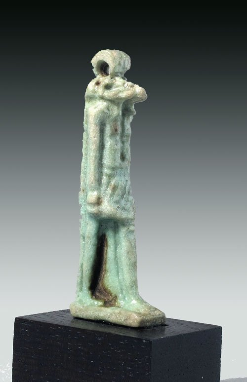 116: Egyptian Green Faience Amulet Of Striding Khnum