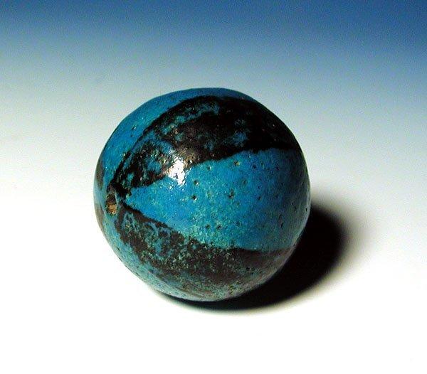 117: Egypian Faience Ball Bead