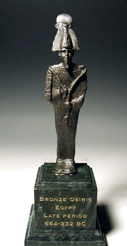 119: Egyptian Bronze Figure of Osiris
