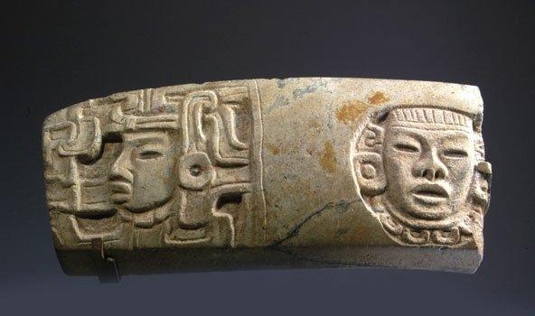 121: Pre Columbian Ballgame Yoke Fragment, Vera Cruz