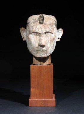 321: Head from an Ancestor Figure – Sulawesi, Indonesia