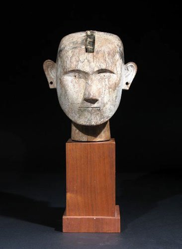 321: Head from an Ancestor Figure – Sulawesi, Indonesia