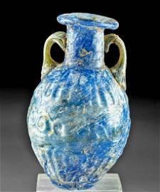 Roman Sidonian Molded Glass Amphoriskos