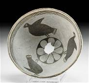 Mimbres Pottery Bowl with Turkeys - Art Loss