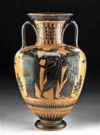 Greek Pottery Amphora, Herakles & Athena - Ex Sotheby